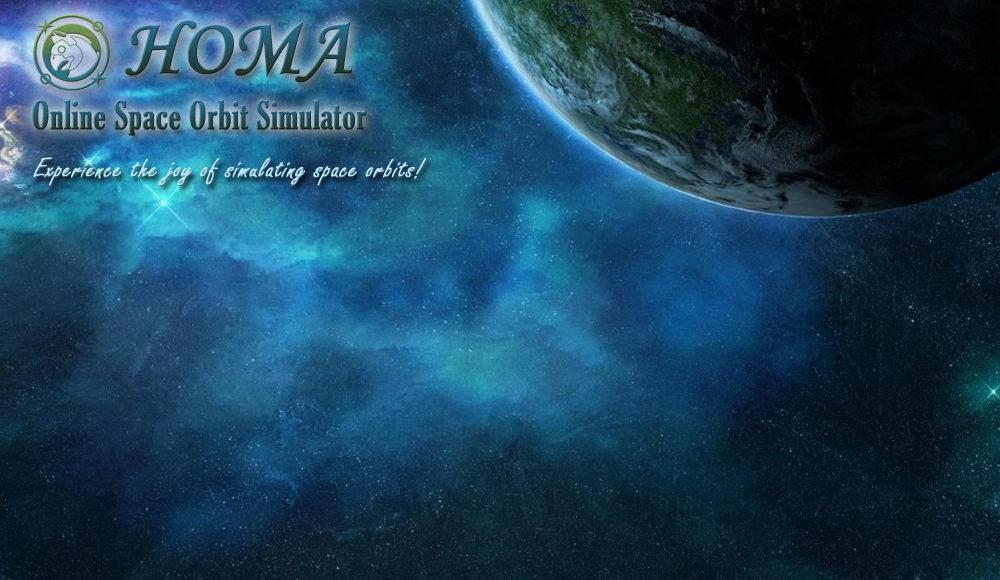 HOMA - Online Space Orbit Simulator - Home
